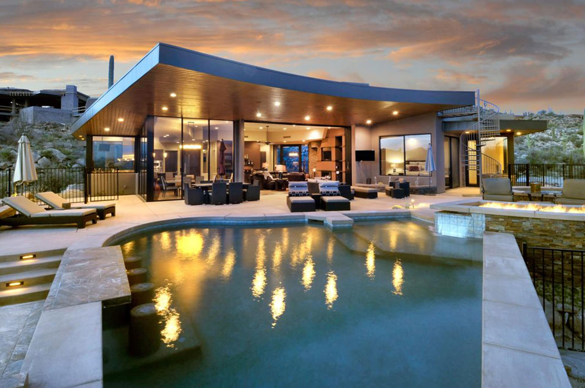 Panoramic pool outdoor
