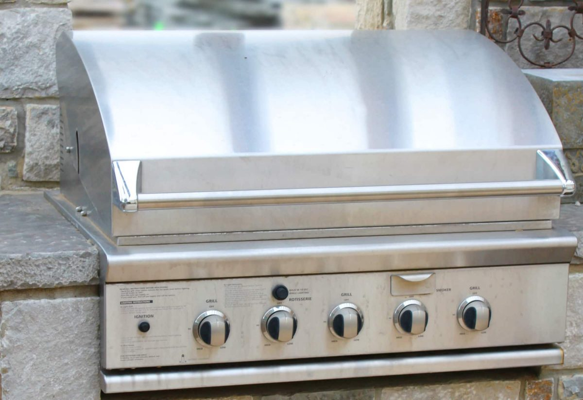 An outdoor grill