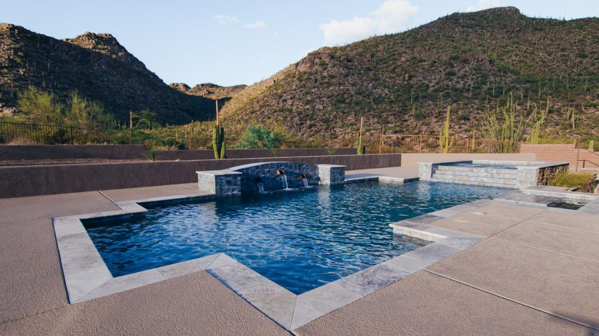 An Arizona pool built by our team