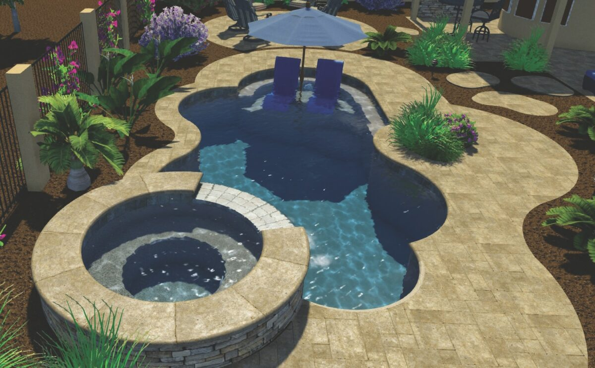 The design software we use to model various pool shapes